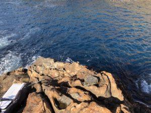神子元島 江の口船着き